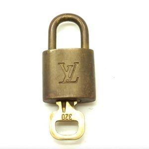 Gold Alma Speedy Keepall Lock and Key Set #320 Bag